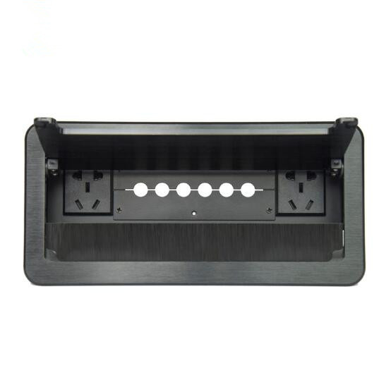 Tablettop Cable Cubby Box Socket Pull Cable Type Perforated Cable Box